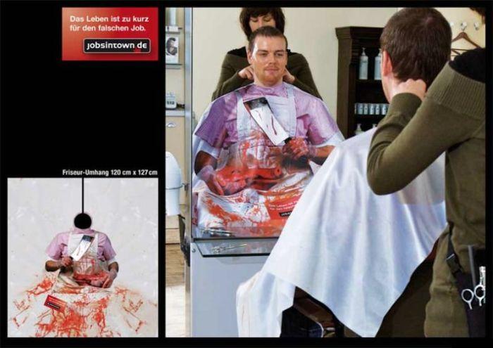 Life is Too Short for a Wrong Job Guerrilla Marketing Idea