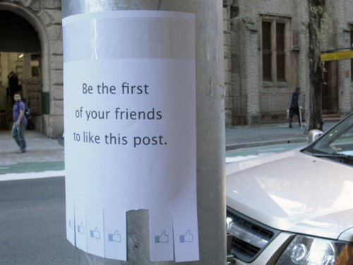 9 Creative Street Art Examples Inspired By Facebook Guerrilla Marketing Photo