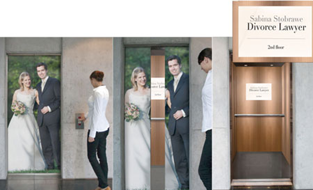 Divorce Lawyers Ad Elevator