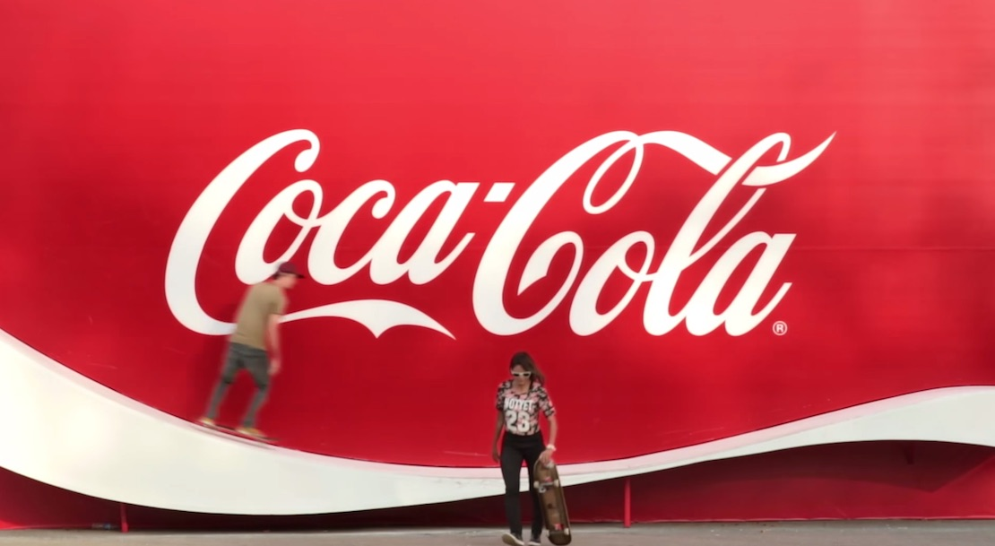 Coca-Cola Creates a Logo You Can Skate on 1