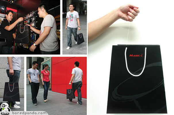Creative Guerrilla Marketing Examples of Bags