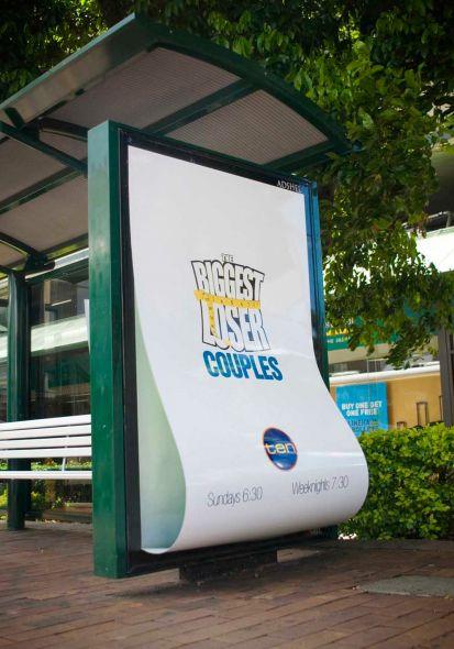 Ten / The Biggest Loser: Bus stop