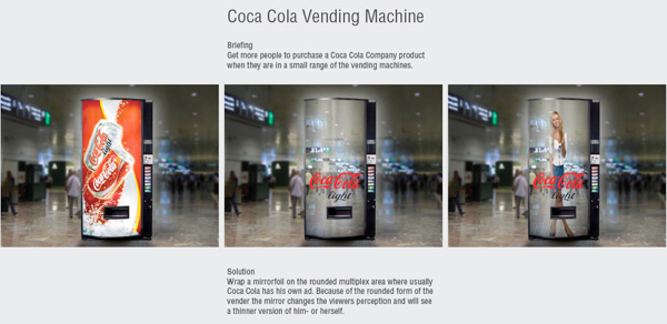 Guerrilla Marketing – Creative Attention Seeking #2 - Coca Cola light