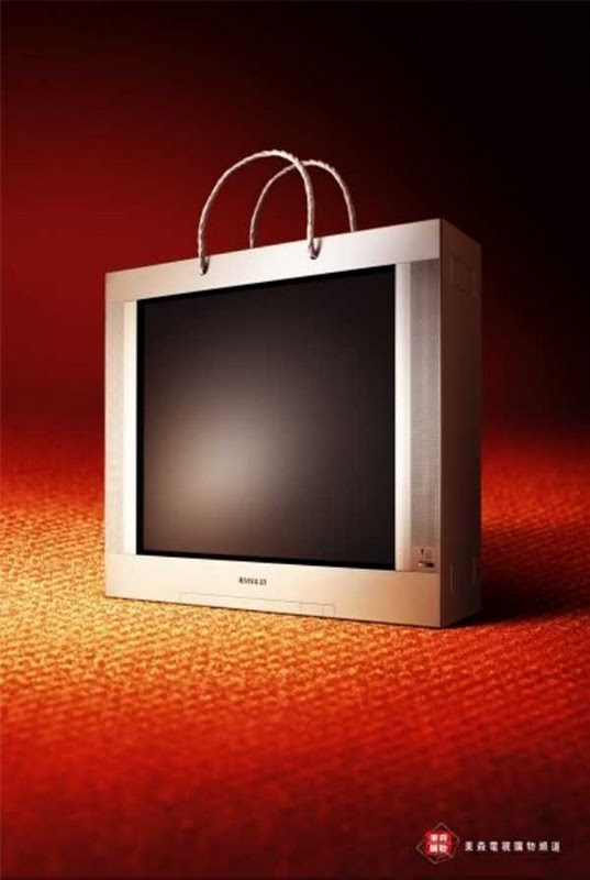 Samsung TV Creative Guerrilla Marketing Examples of Bags