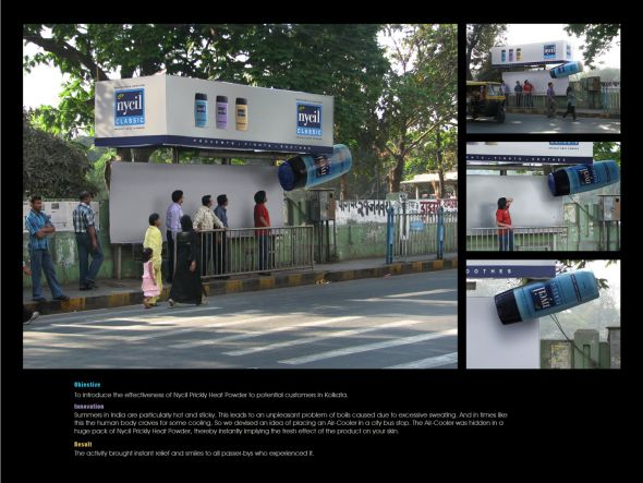 Nycil: Cooling bus stop