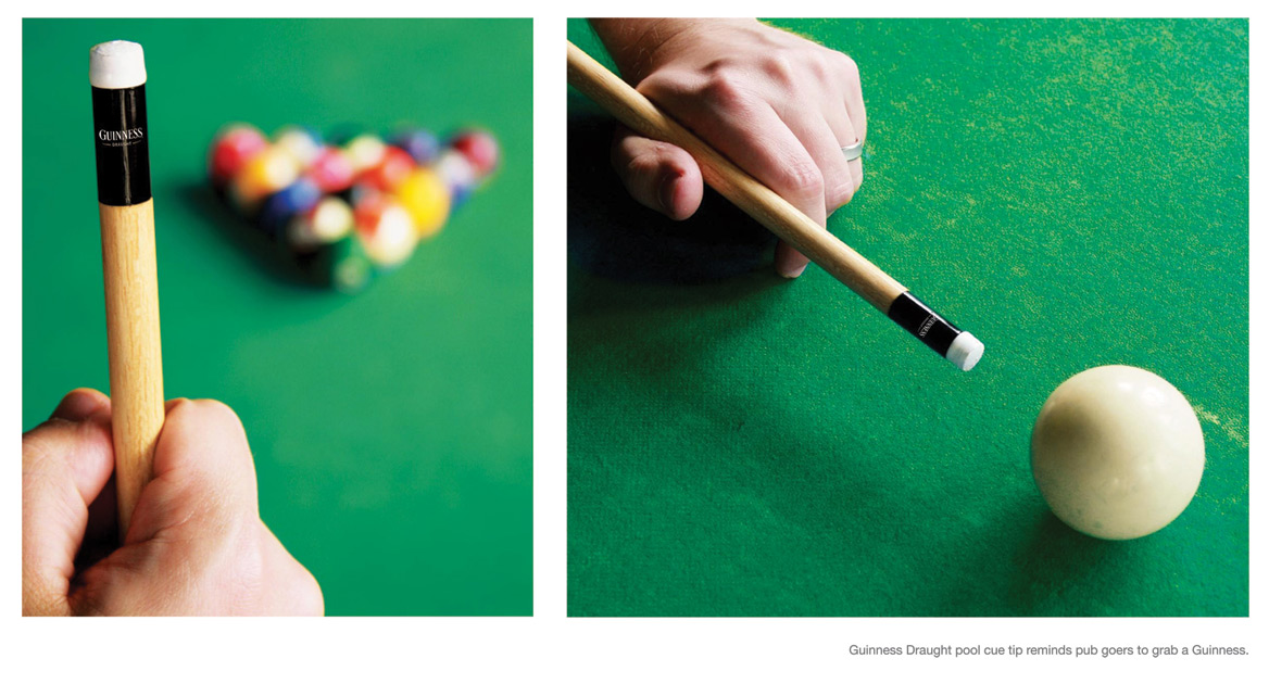Guinness Pool Cue Reminds Pub Goes Of Guinness