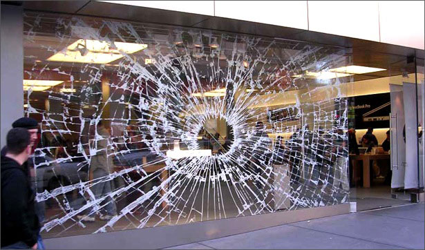Apple guerrilla marketing examples the broken glass sticker