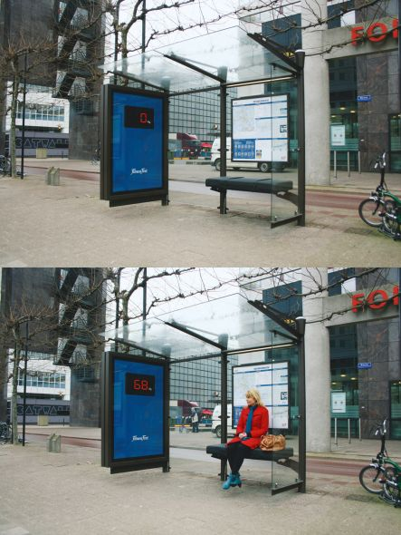 Fitness First: Bus stop
