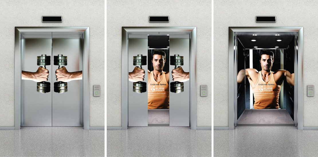 36 most creative elevator advertisements you ll ever see - Posters para gimnasios ...